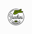 zucchini vegetable logo round linear logo fresh vector image vector image