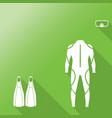 scuba diving equipment sport underwater vector image