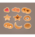 cookie set vector image