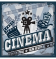 vintage cinema sign vector image
