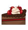 Chocolate cake slice vector image