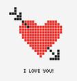 a pixel heartv vector image