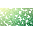 Abstract green gradient lowploly of many vector image vector image