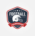 american football championship logo sport design vector image vector image