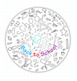 Back to school global icons vector image