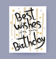 best wishes for your birthday congratulation vector image