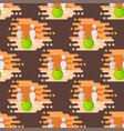 bowling emblem design seamless pattern item vector image vector image
