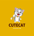 cat thumb up mascot character logo icon vector image