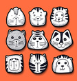 Cats set of cute doodle Kids characters animals vector image vector image