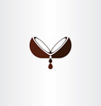 coconut oil logo icon design vector image vector image