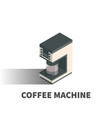 coffee machine icon symbol vector image vector image