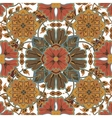 Colorful glaze seamless pattern of mandalas vector image