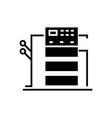 copy machine icon black sign vector image vector image
