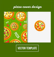cover design for print pizza menu vector image vector image