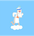 cute god character standing preparing for a vector image vector image
