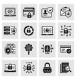 cyber security icons such as access control vector image