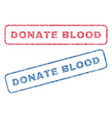 donate blood textile stamps vector image