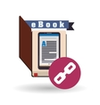 eBook design reading icon White background vector image