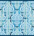 elegance floral light blue 3d seamless pattern vector image vector image