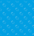 elk pattern seamless blue vector image vector image
