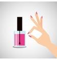 female makeup design vector image vector image