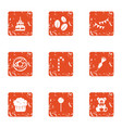 fill the cake icons set grunge style vector image