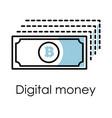 financial internet transaction digital money vector image vector image