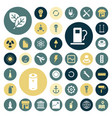 flat design icons for industrial energy ecology vector image