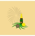 flat on background of champagne vector image vector image