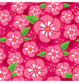 flower seamless pink vector image vector image