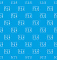 football strategy pattern seamless blue vector image vector image