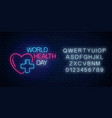 glowing neon medicine concept sign with medicine vector image vector image