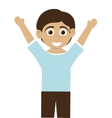 happy boy with tan skin with arms open icon vector image vector image