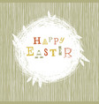 happy easter postcard with nest symbol vector image vector image