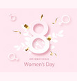 happy women s day poster 8 march holiday spring vector image