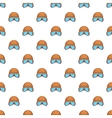 Hat and sunglasses tanker pattern cartoon style vector image vector image