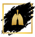human anatomy lungs sign golden icon at vector image vector image
