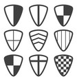 image of shield icons with various ornaments vector image
