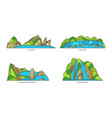 indonesia landmarks nature and travel flat icons vector image