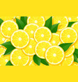 lemon and leaf citrus vector image vector image