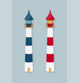 lighthouse set vector image vector image