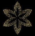 luxury golden flower on black gold glittering vector image vector image