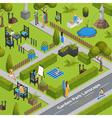 Of Garden Park Landscape vector image vector image