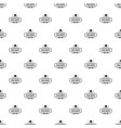 old hat pattern seamless vector image vector image
