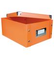 Orange storage box vector image vector image