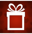 Paper gift vector image vector image