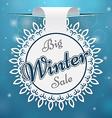 Paper price tag Big Winter Sale vector image