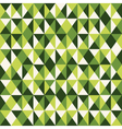 pattern low poly green vector image