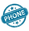 PHONE round stamp vector image