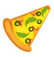 pizza slice fast food italian recipe pastry vector image